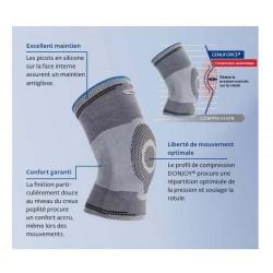 Descriptif: La Genouillère GENUFORCE de compression avec un anneau en silicone soulage les contraintes de votre genou.