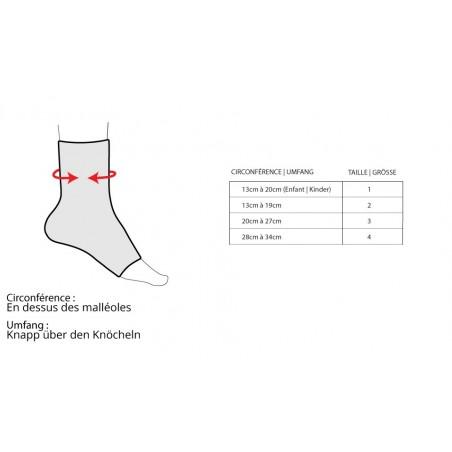 Tableau taille PodaLib releveur dynamique du pied