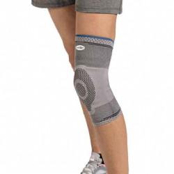 La Genouillère GENUFORCE® de compression avec un anneau en silicone soulage les contraintes de votre genou.