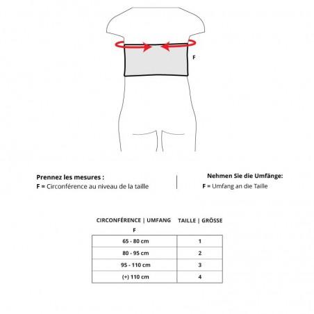 BOTA THORAX FEMME - Tableau des tailles