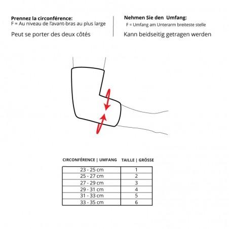 Sport Elbow Support - Soutenez la performance de votre coude - Tableau des tailles