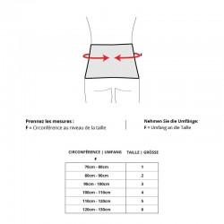 Sport Back Support - Tableau des tailles